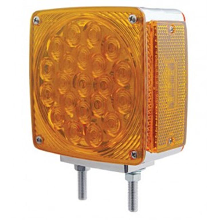 square LED amber light